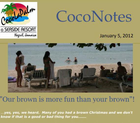 Coco notes January 2012