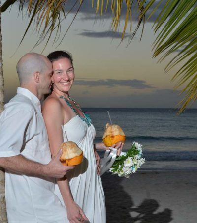 coco wedding couple